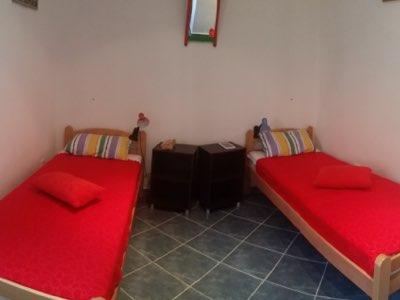 Chambre deux lits simples de l'appartement en location à Budva